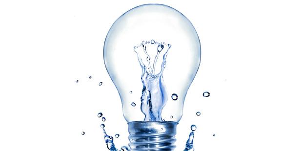 Ampoule avec gouttes d'eau
