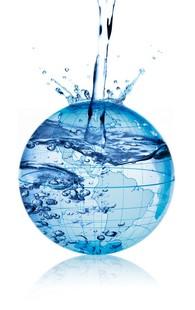 Planète terre qui se rempli d'eau