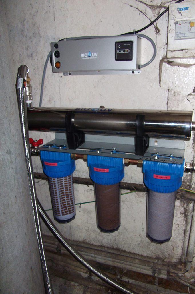 ensembe de potabilisation d'eau de puits beuzit